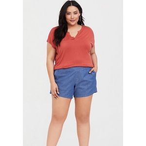 Torrid Blue Chambray Pull On Shorts Size 2 059